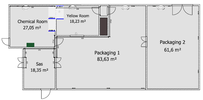 Layout of the clean room